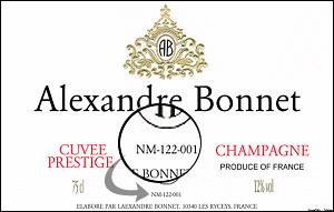 vin étiquette champagne